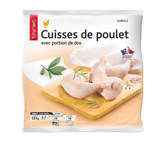 Lot de 2 x Cuisses de poulet