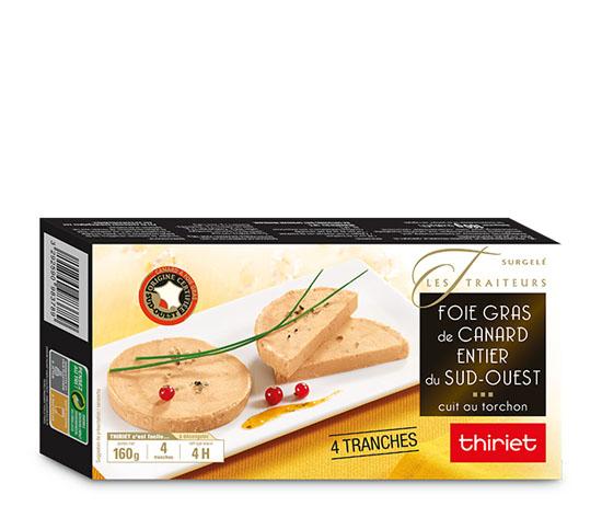 Foie gras de canard entier Sud-Ouest, 4 tranches