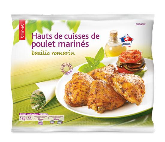 Hauts de cuisse de poulet marinés basilic : le 2ème à - 60%
