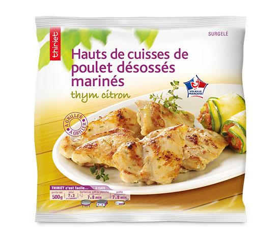 Hauts de cuisse de poulet désossés marinés