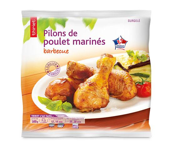 Pilons de poulet marinés barbecue