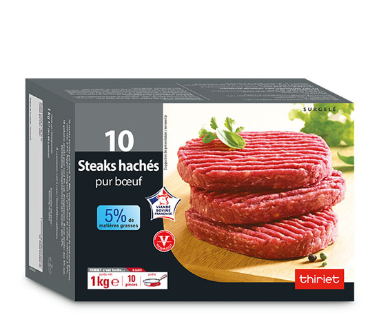 Lot de 2 x 10 steaks hachés