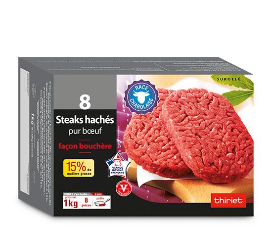 24 steaks hachés pur boeuf charolais