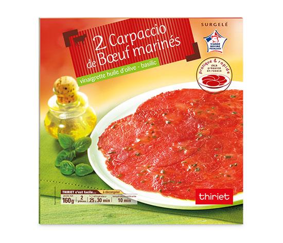 2 Carpaccio de boeuf marinés et vinaigrette
