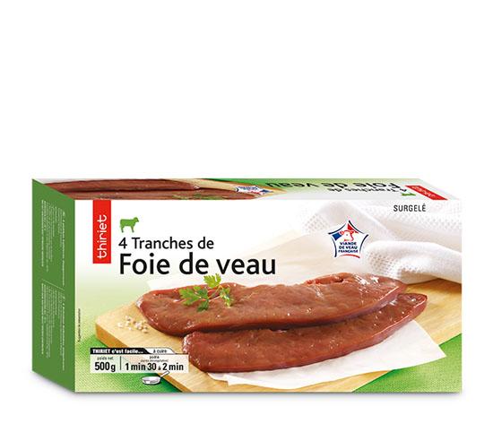 4 Tranches de foie de veau