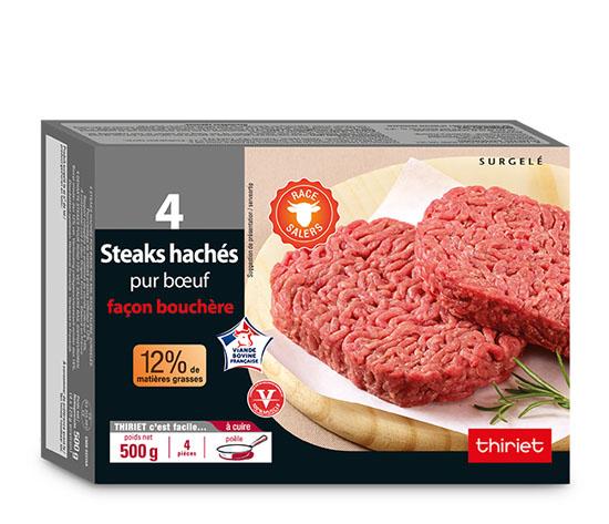 Lot de 2 x 4 steaks hachés