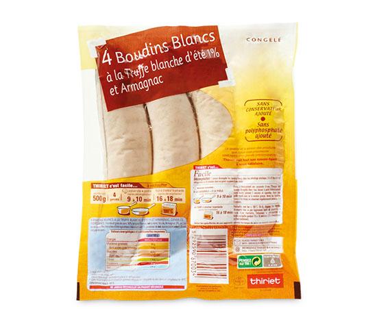 4 Boudins blancs Truffe blanche d'été 1%, Armagnac