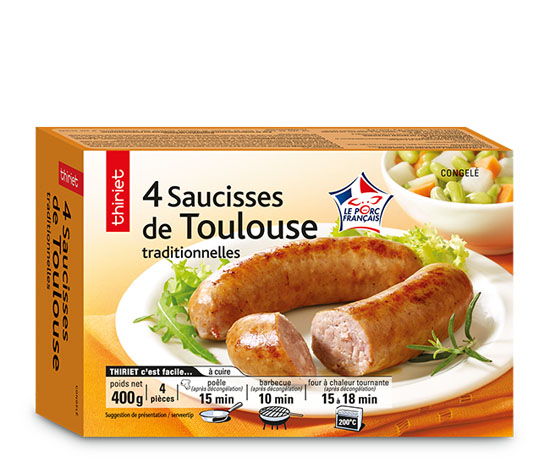 4 Saucisses de Toulouse traditionnelles