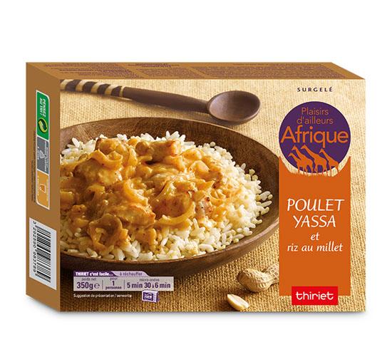 Poulet yassa et riz au millet