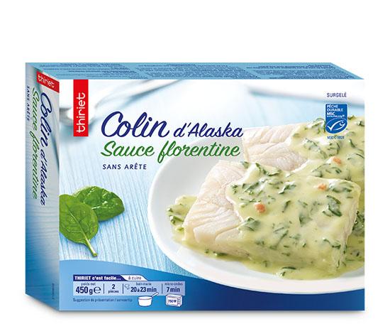 Colin d'Alaska sauce florentine