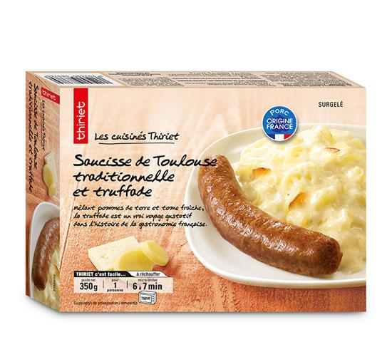 Saucisse de Toulouse traditionnelle et truffade