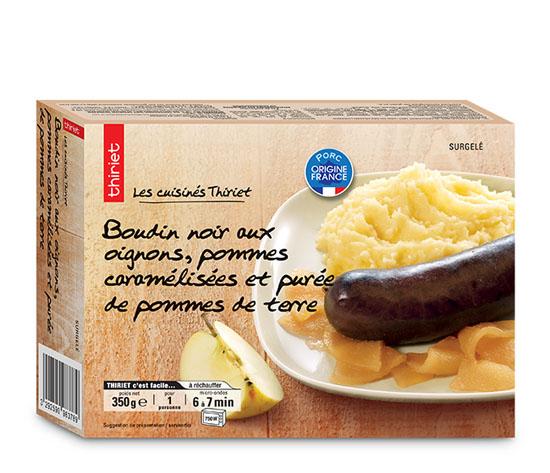 Boudin noir aux oignons, purée de pommes de terre