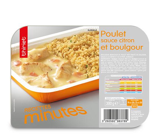 Poulet sauce citron et boulgour