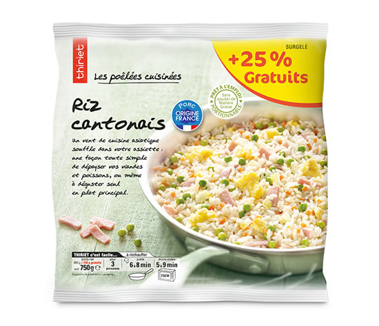 Riz cantonais + 25% offert