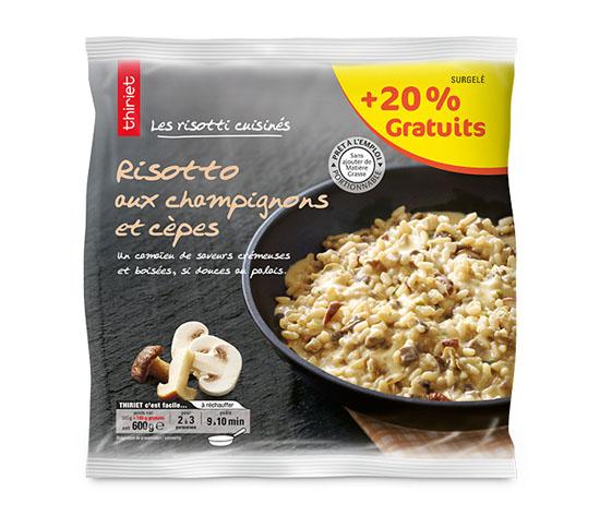 Risotto aux champignons et cèpes + 20% offert