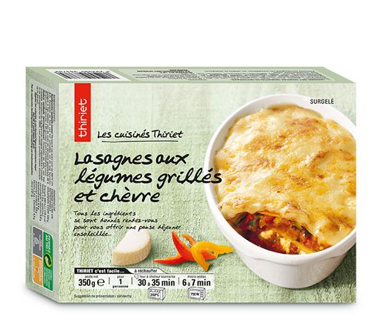 Lasagnes aux légumes grillés et au chèvre