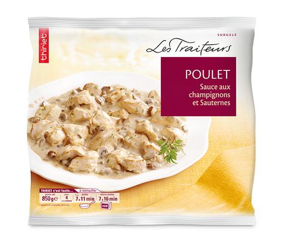 Poulet sauce aux champignons et Sauternes