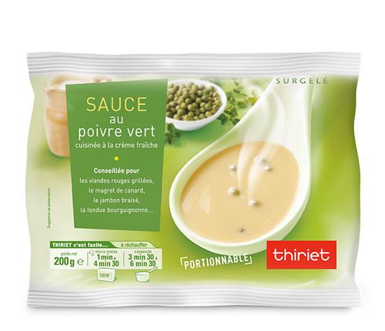 Sauce au poivre vert