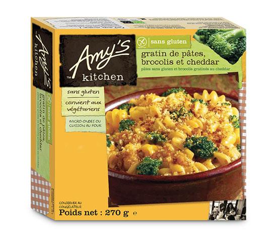 Gratin de p tes brocolis et cheddar sans gluten surgel - Plats cuisines sans gluten ...