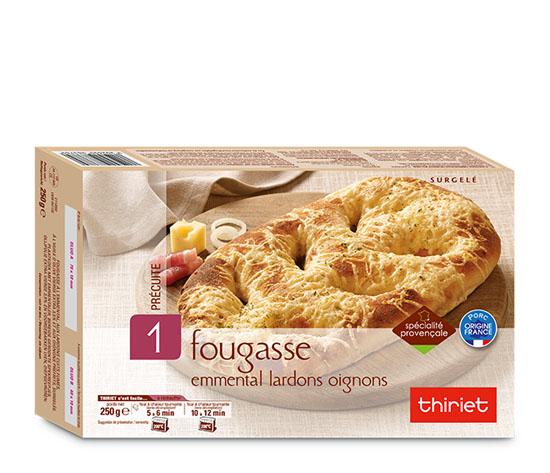 Fougasse emmental/lardons/oignons