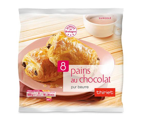 8 Pains au chocolat pur beurre