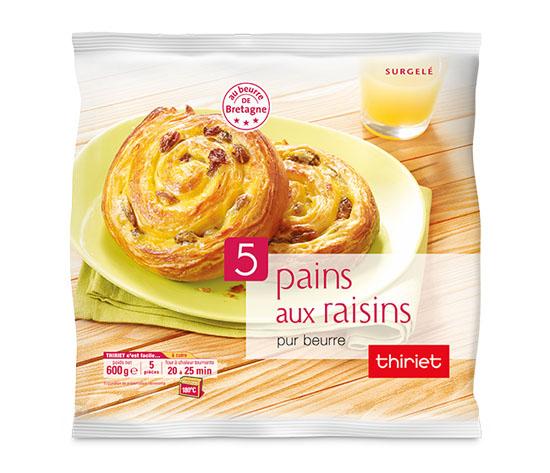5 pains aux raisins pur beurre