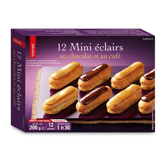 12 Mini éclairs au chocolat et au café