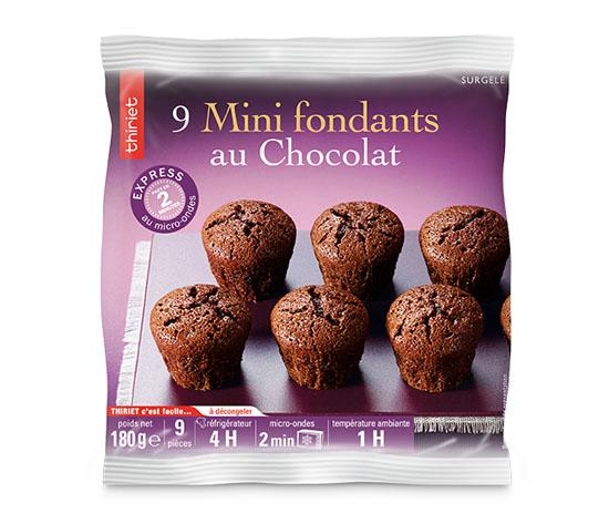 18 Mini fondants au chocolat