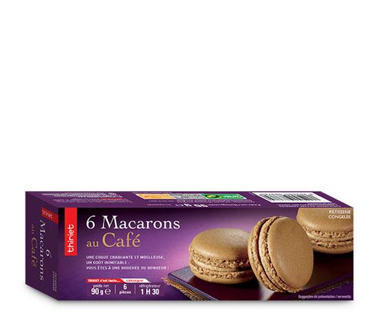 6 Macarons au café