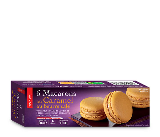 6 Macarons au caramel au beurre salé