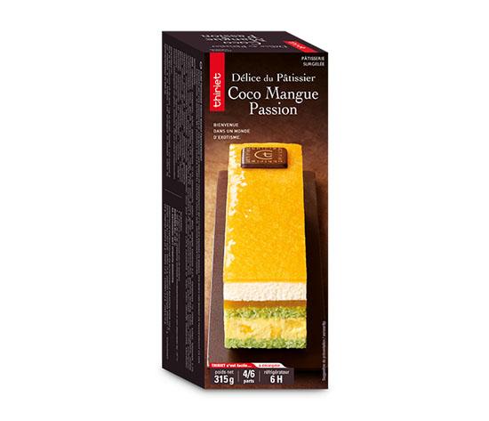Délice du pâtissier coco/mangue/passion