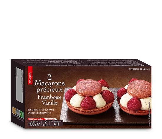 2 Macarons précieux framboise/vanille