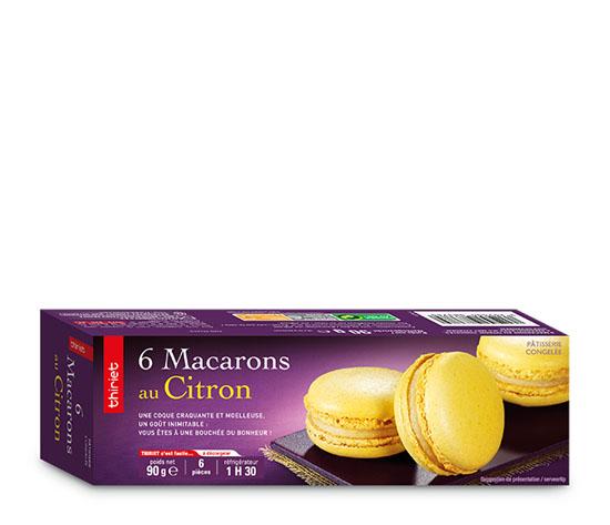 6 Macarons au citron
