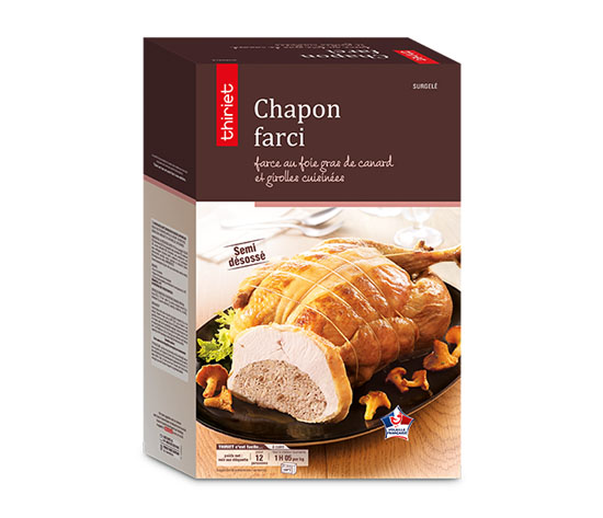 Chapon farci, farce au foie gras de canard