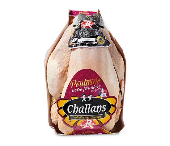 Poularde noire fermière de Challans Label Rouge