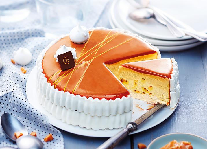 Vacherin saveur crème brûlée/caramel