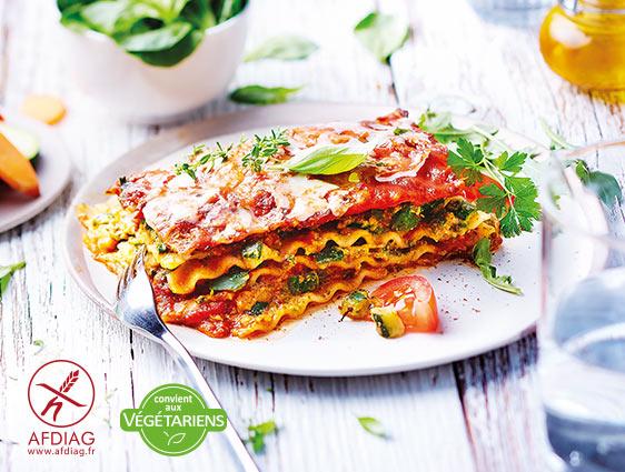 Lasagnes aux légumes sans gluten : la 2ème à -50%