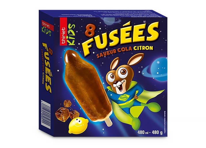 8 Fusées Saveur cola/citron