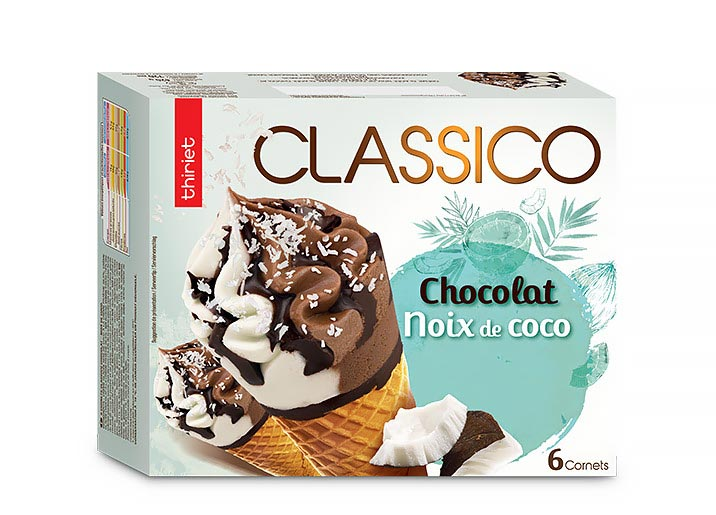 6 Cornets Classico Chocolat/noix de coco