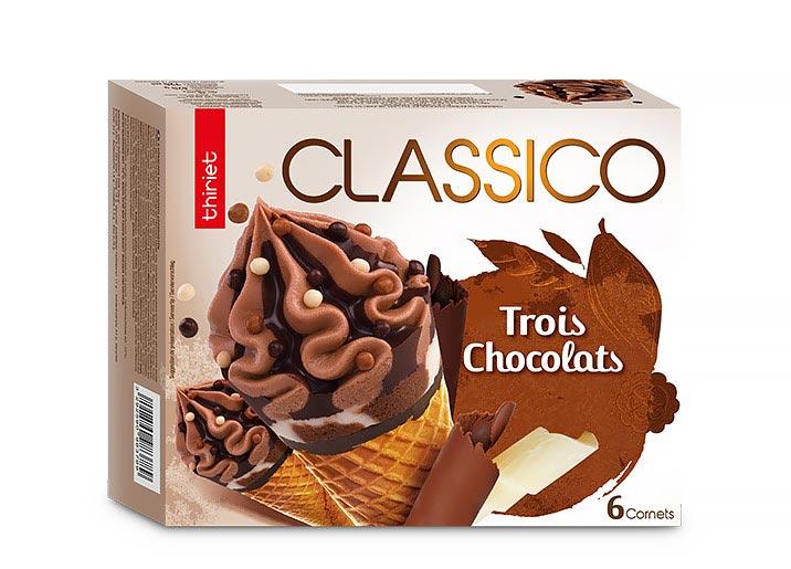 6 Cornets Classico 3 Chocolats