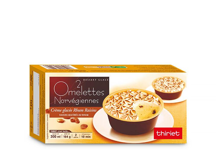 2 Omelettes norvégiennes rhum/raisins
