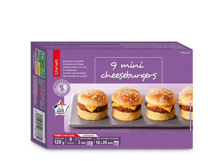 9 Mini cheeseburgers