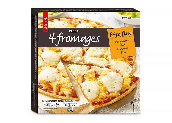 Pizza pâte fine 4 fromages