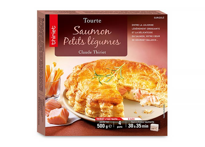 2 Tourtes saumon/petits légumes