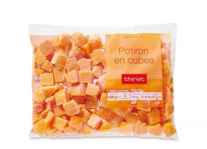 Potiron en cubes