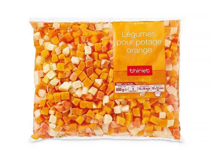 Légumes pour potage orange