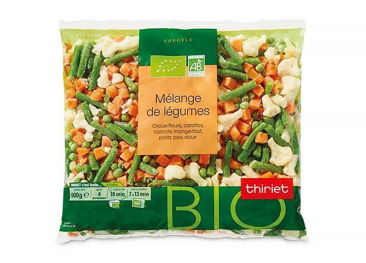 Mélange de légumes biologiques