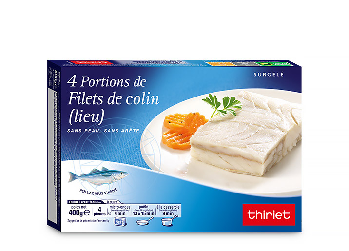4 Portions de filets de colin (lieu)