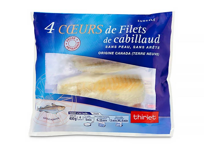 4 Coeurs de filets de cabillaud