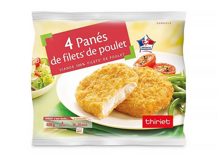 Lot de 2 x 4 Panés de filet de poulet